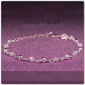 ♨️SALE Silver Scrub Shiny Ball Link Bracelet